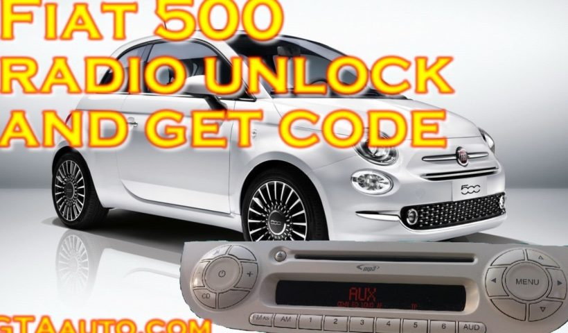 Fiat 500 Radio Unlock  and Get Code PIN 1 maxresdefault 2