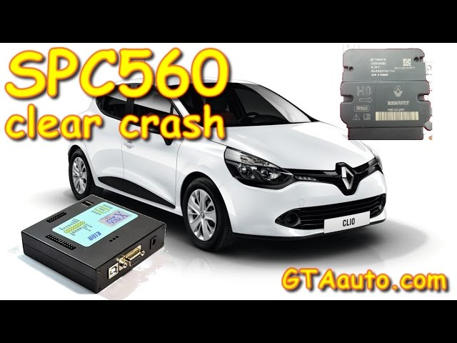 SPC560 read with XPROG CLIO 4 rest crash clear